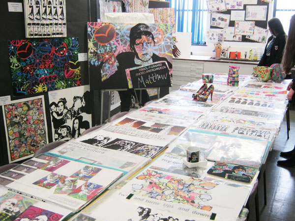 Art & Design examples of work from Ysgol y Grango students