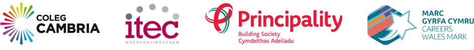 Coleg Cambria, Wrexham Itec, Principality Building Society, Careers Wales Mark