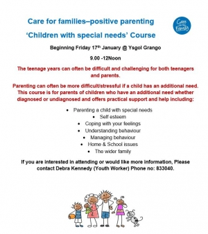 Care for families–positive parenting 'Children with special needs' Course