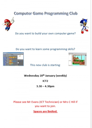 Computer Game Programming Club