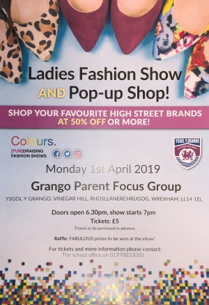 Ladies fashion show and pop-up shop!