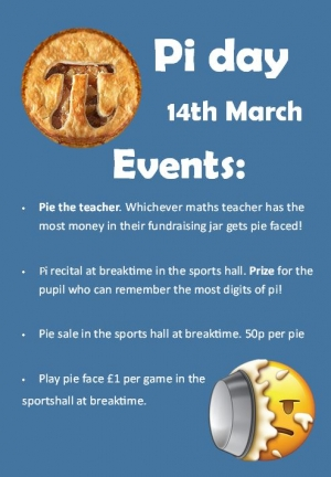 PI Day!! 14th MARCH!!