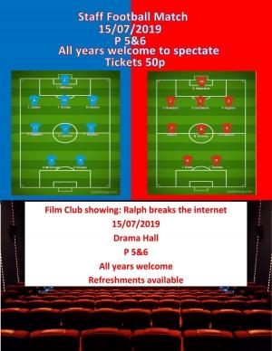 Staff football/Film Club