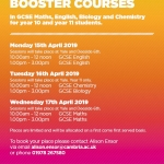 Free GCSE revision booster courses.