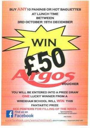 Win £50 Argos voucher