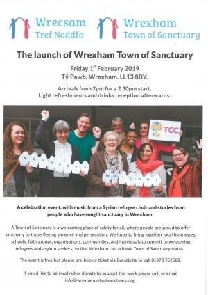 Wrexham town of sanctuary