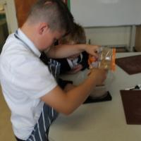 7N making rhubarb and apple crumble!